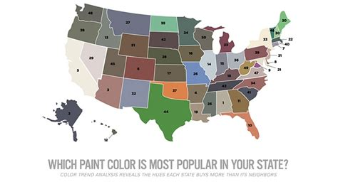color trend analysis from behr paint reveals paint color popularity by state coatings world