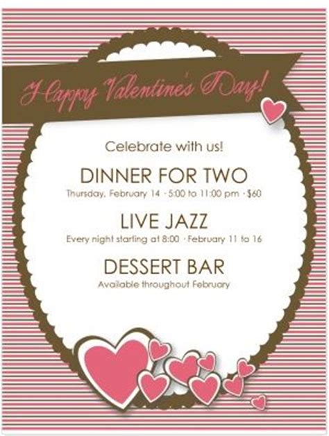 design of the week happy valentine s day flyer 3