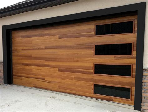 Cedar Wood Garage Doors Price Accent Planks On This C H I Cedar Door Make It A Strong Statement But The Timeless
