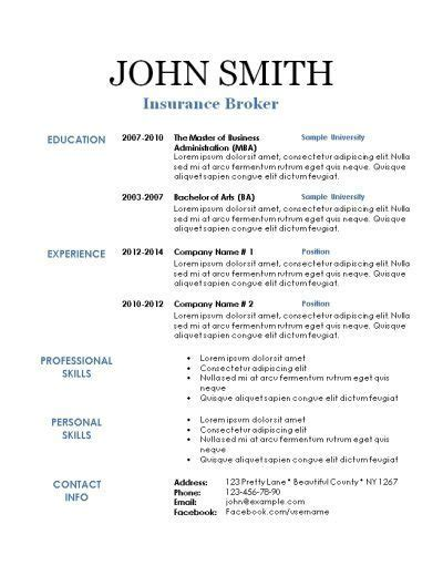 free printable basic resume templates blank resume template