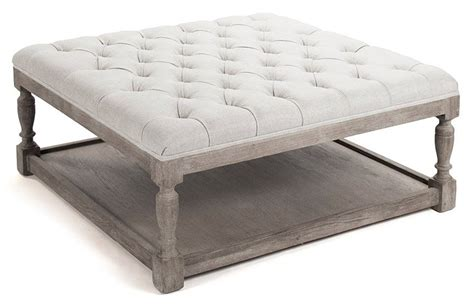 modern white tufted ottoman coffee table great furniture