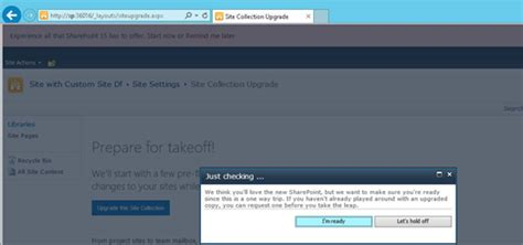 upgrade site collection which is created in sharepoint