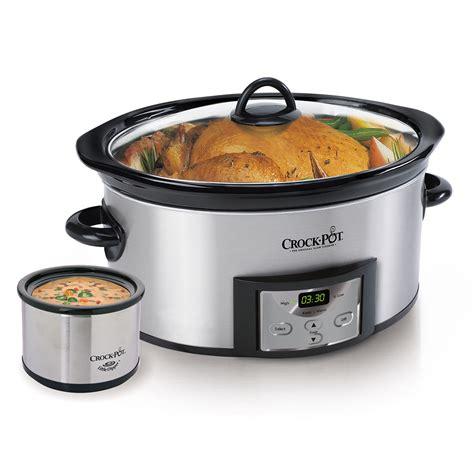 crock pot crock pot 174 countdown digital cooker with dipper 174 warmer stainless steel at crock