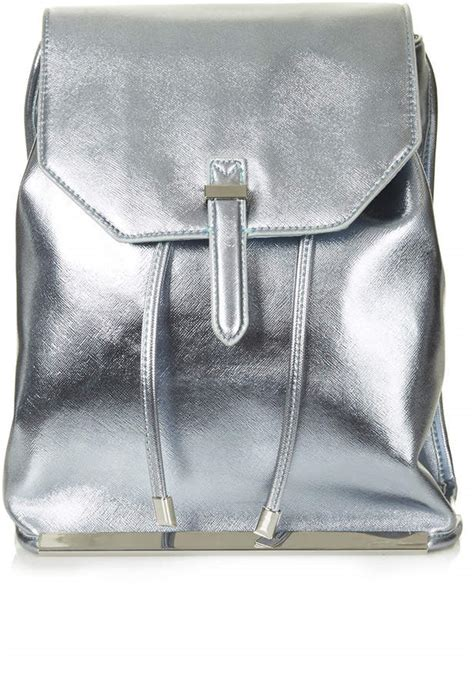 Silver Leather by Silver Leather Backpack Topshop Metallic Backpack Where