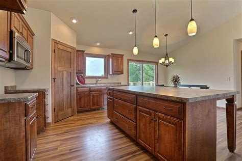 Stain Laminate Countertops by Vc83 Floor Plan Cabinets Square Raised Panel