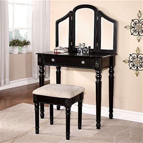 Black Vanity With Beading Stool Big Lots 129 99 My