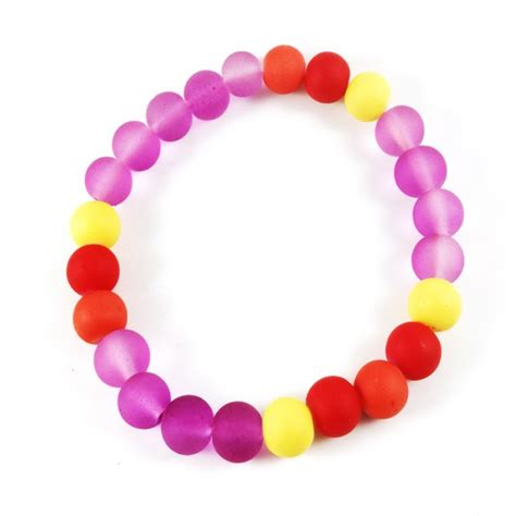 Gelang Batu Manau Pink 8mm silicone rubber bracelet purple yellow