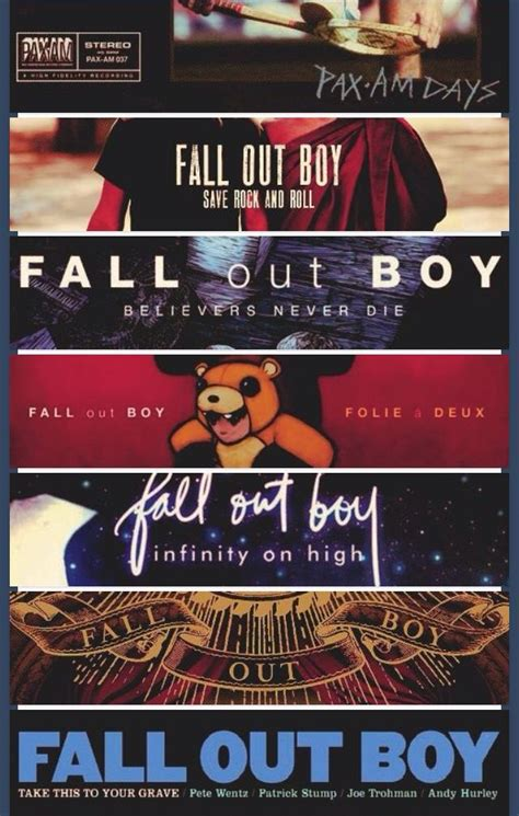 Fall Out Boys Record Release by Fob Albums With Feeling Rock And
