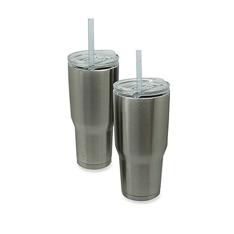 bed bath and beyond tumblers vacuum insulated metal cold 1 tumbler with straw bed