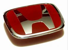 Genuine RED Honda H REAR BADGE Emblem for Honda Accord 03 ... Red Honda Emblem