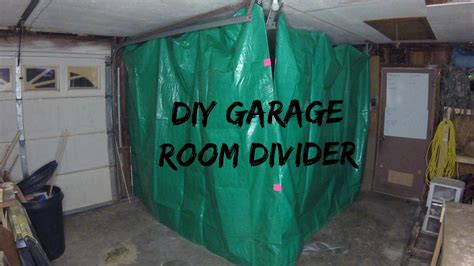 garage divider curtains jwf diy garage divider youtube