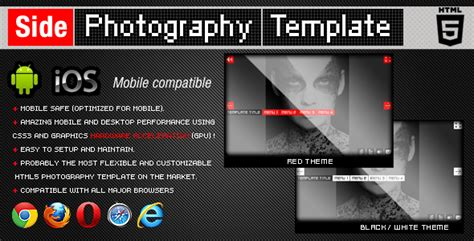 html5 photography template html5 side photography template by flashdo on deviantart