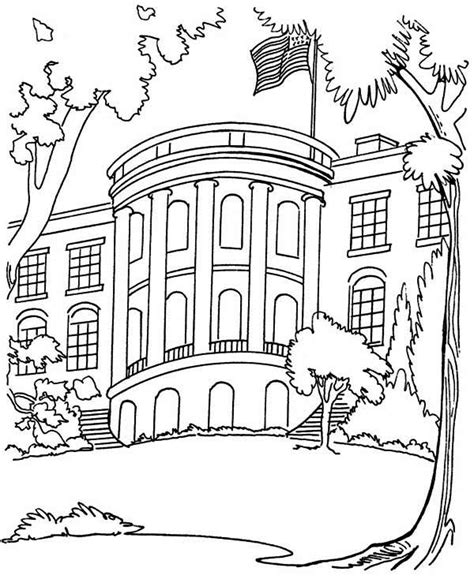 White House Home Page The White House In Houses Coloring Page Netart