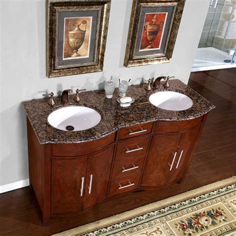 58 inch sink vanity 58 inch sink vanity with a baltic brown top and