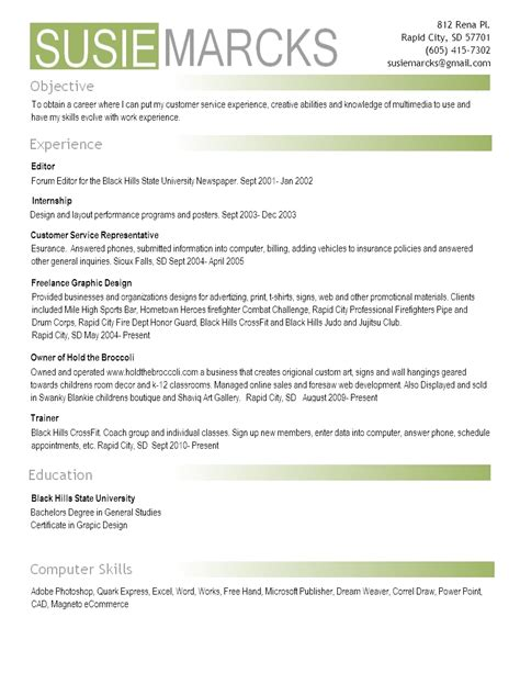 Objective Resume Examples by Resume Susie Marcks