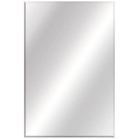Bathroom Mirror Edging Glacier Bay 24 In W X 36 In L Beveled Edge Bath Mirror 81185 The Home Depot