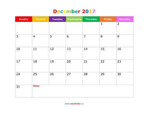 Calendar Template by December 2017 Calendar Printable Templates