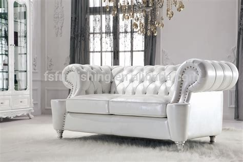 silver table ls living room ls168 luxury gold white metal leather button