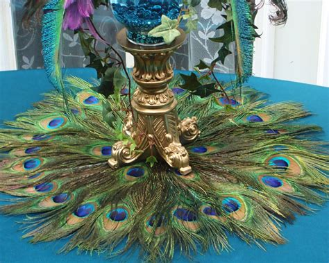 peacock feather decorations home 10 22 peacock feather place mat or centerpiece
