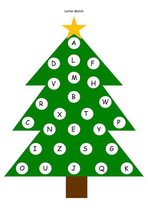 free tree letter matching a to m great winter and 45 best images about merry toddler christmas on pinterest