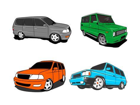 vector mobil kijang klasik cdan modern