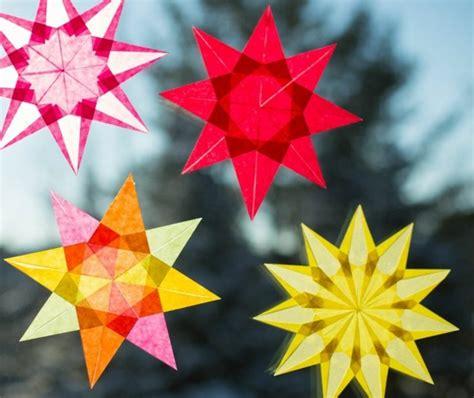fensterbilder weihnachten sterne basteln fensterbilder zu weihnachten originelle bastelideen zum