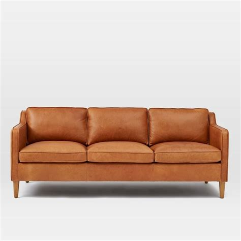 west elm leather couch hamilton leather sofa sofas new york by west elm