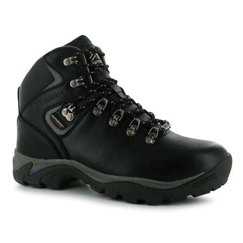 karrimor skido waterproof walking boots womens black plumb
