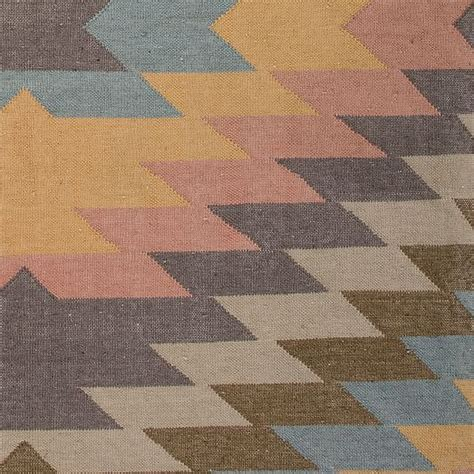 West Elm Outdoor Rugs Faded Geo Indoor Outdoor Kilim Rug West Elm