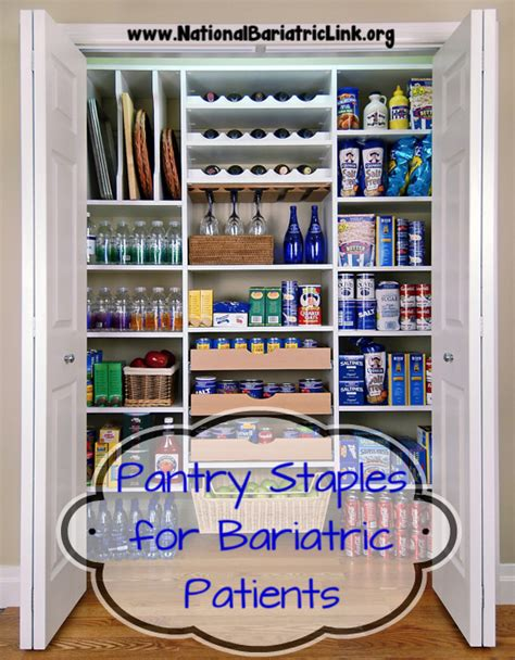 Bariatric Pantry by Pantry Staples After Bariatric Surgery National