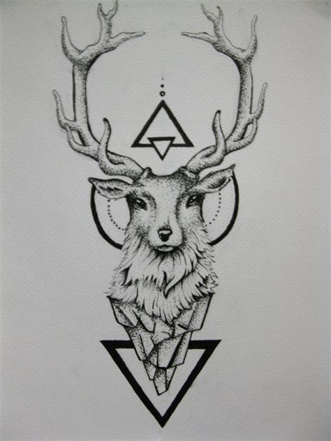 deer tattoo by duduarte on deviantart