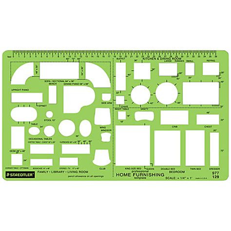 staedtler template staedtler mars template house furnishings by office depot