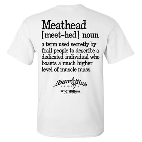 design apparel meaning meathead definition weightlifting t shirt ironville