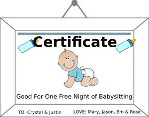babysitting gift certificate template babysitting coupn clip at clker vector clip