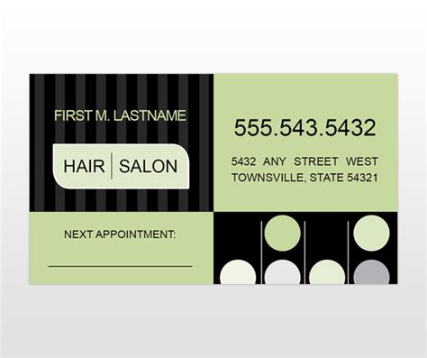 Hair Business Card Template by Hair Salon Services Business Card Templates