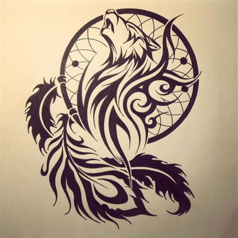 tattoo lovers tribal tribal wolf by dirtfinger on deviantart drawing