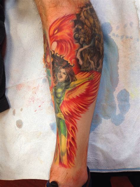 X Tattoo Phoenix | phoenix jeangrey tattoo xmen tattoo pinterest