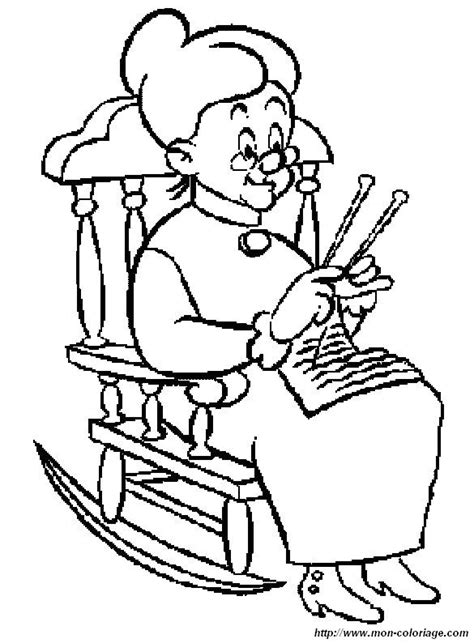 free coloring pages of grandmother and