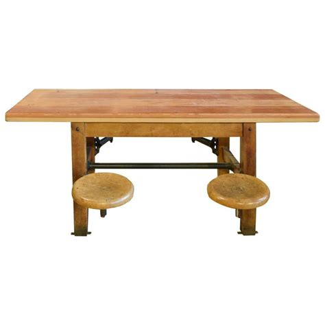 swing table l table with swing arm seats at 1stdibs