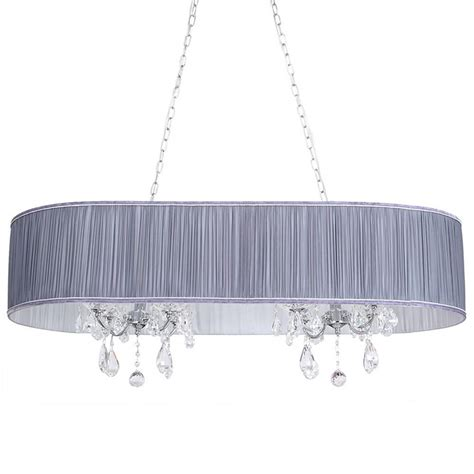 Chandelier L Shade L Amour 8 Light Chandelier In Pleated Shade Grey From Litecraft
