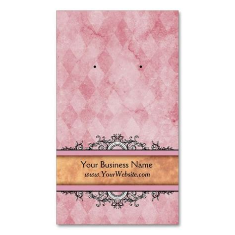make your own earring cards custom earring cards pink vintage business cards make