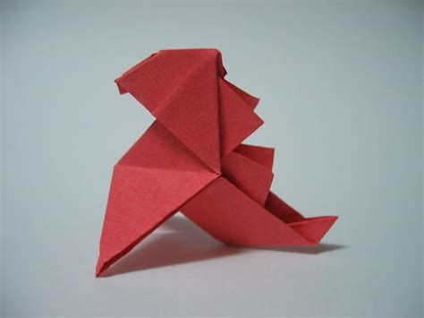 How To Make An Origami Godzilla - origami godzilla pajarita by pepius on deviantart