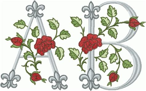 rose pattern font abc designs royal rose font machine embroidery designs for