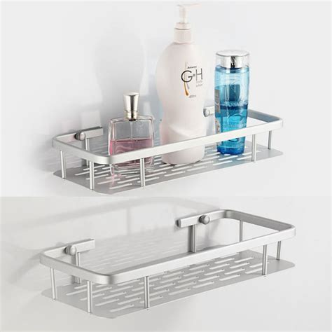 wall mounted bathroom shelves aluminum space shelves wall mounted bathroom bath single
