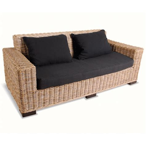 Wicker Sofa by 2 Seater Rattan Sofa Next Day Delivery 2