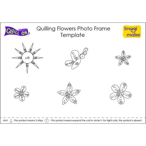 quilling template quilling flowers photo frame quill on