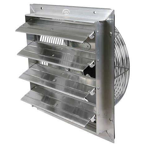 industrial exhaust fan with shutter 16 quot durafan select speed shutter fans qc supply