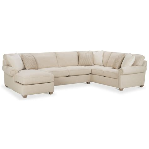 rowe sectional sofa rowe morgan traditional three piece sectional sofa with