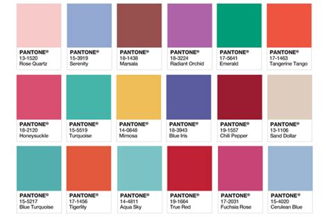 color panel pantone colour of the year