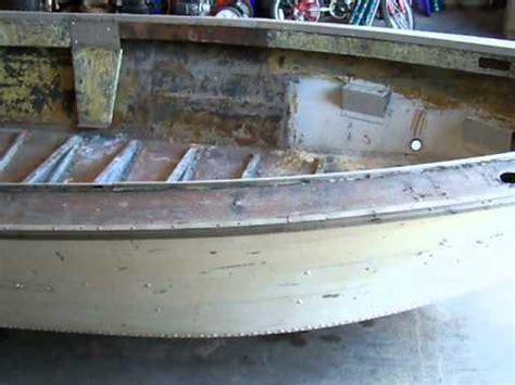aluminum boat repair youtube restoration 1981 sea nymph aluminum boat part 1